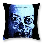 Blue Zombie Throw Pillow