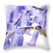 Bluebell Abstract II Throw Pillow