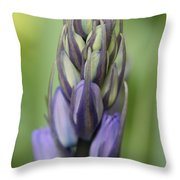Bluebell Buds Throw Pillow