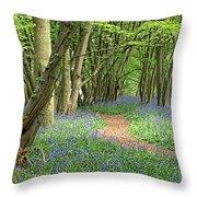 Bluebell Wood 3 Throw Pillow