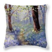 Bluebell Wood Throw Pillow