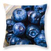 Blueberries Punnet Throw Pillow