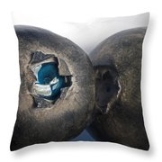 blueberries V Throw Pillow