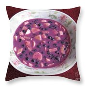 Blueberry And Banana Soup Throw Pillow