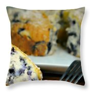 Blueberry Bundt Cake Throw Pillow