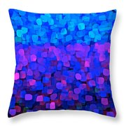 Blueberry Passion Fruit Throw Pillow
