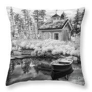 Blueberry Pond  Throw Pillow