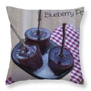 Blueberry Popsicles Throw Pillow