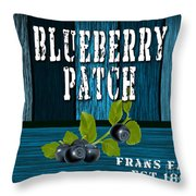 Blueberrys Throw Pillow