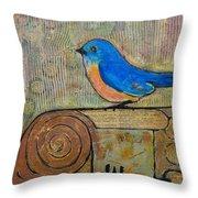 Bluebird Art - Knowledge Is Key Throw Pillow