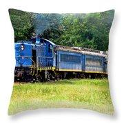 Bluebird Train Throw Pillow