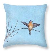 Bluebird Wings - Minimalism Throw Pillow