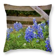 Bluebonnet Gate Throw Pillow