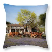 Bluebonnet Heaven Throw Pillow