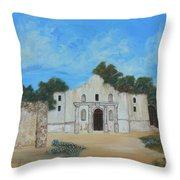 Bluebonnets At The Alamo Throw Pillow