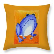Bluefrog Throw Pillow