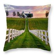 Bluegrass Farm Throw Pillow