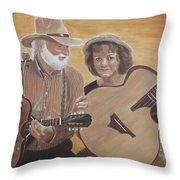 Bluegrass Music Throw Pillow