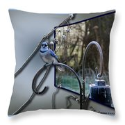 Bluejay Oob - Featured In 'out Of Frame' And Comfortable Art Groups Throw Pillow