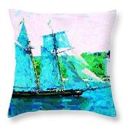 Bluenose Schooner In Halifax Throw Pillow