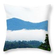 Blueridge Mountain Splendor Throw Pillow by Ella Char