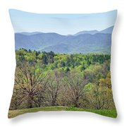Blueridge Mountains In The Spring Throw Pillow