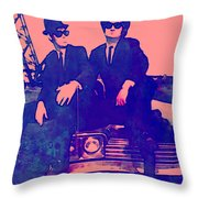 Blues Brothers 2 Throw Pillow