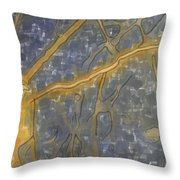 Blues Composition Throw Pillow