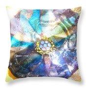 Blues Mandala Bowl Throw Pillow