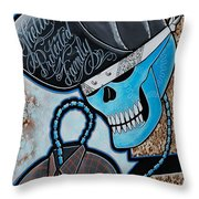 Blueskully Throw Pillow