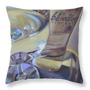 Bluestone Traminette And Glass Throw Pillow