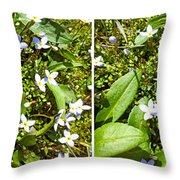 Bluets In Stereo Throw Pillow