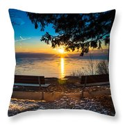 Bluff  Benches Throw Pillow
