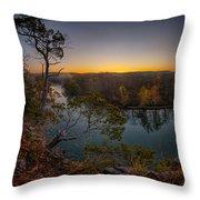 Bluff View Of The Meramec Throw Pillow