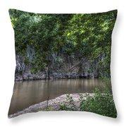 Bluffs Along Big River Throw Pillow