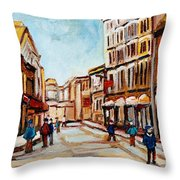 Blumenthals On Craig Street Throw Pillow