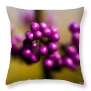 Blur Berries Throw Pillow