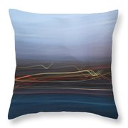 Blur City Throw Pillow