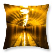 Blur Tunnel Throw Pillow