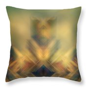 Blurred Abstract Colorful Background Throw Pillow