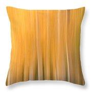 Blurred Aspens Throw Pillow