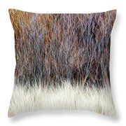 Blurred Brown Winter Woodland Background Throw Pillow