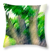 Blurred Pecan Throw Pillow