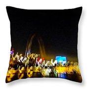 Blurry Waterfront 2 Throw Pillow