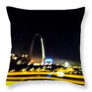 Blurry Waterfront 3 Throw Pillow