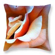 Blush Pink Palm Springs Throw Pillow