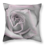 Blush Rose Throw Pillow