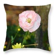 Blushing In Pink Throw Pillow