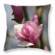 Blushing Magnolia Throw Pillow