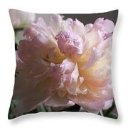 Blushing Peony Throw Pillow